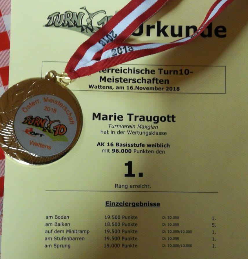 Erfolge Bei Den österr. Turn10-Meisterschaften